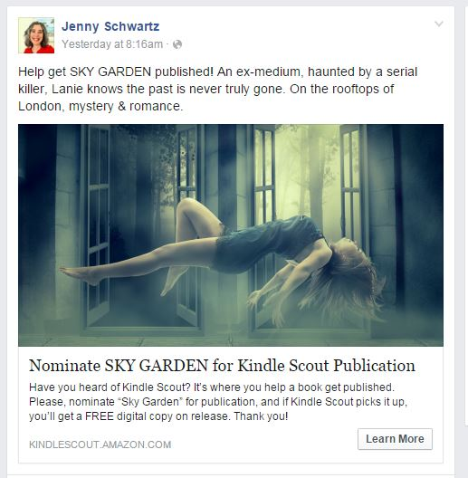 kindle scout, kindle scout promotion, facebook advertising,